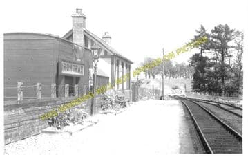 Irongray Railway Station Photo. Dumfries - Newtonairds. Moniaive Line. G&SWR (1)..