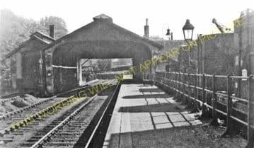 Jedburgh Railway Station Photo. Jedfoot, Nisbet, Kirkbank and Roxburgh Line. (3)