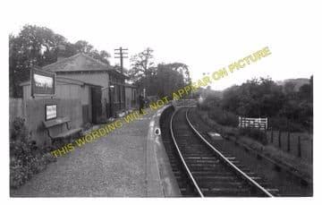 Jedfoot Railway Station Photo. Jedburgh - Nisbet. Roxburgh Line. NBR. (3).