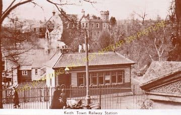 Keith Town Railway Station Photo. Auchindachy and Craigellachie Line. GNSR. (2)..