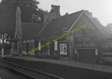 Ketton & Collyweston Railway Station Photo. Stamford - Luffenham. (3)