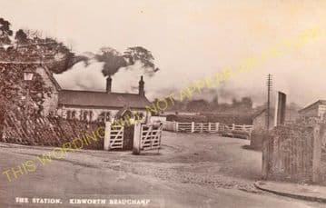Kibworth Railway Station Photo. East Langton -Great Glen. (4).