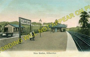 Kilbarchan Railway Station Photo. Linwood - Lochwinnoch. Kilbirnie Line. (1)