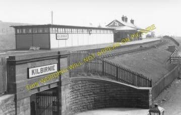 Kilbirnie Railway Station Photo. Lochwinnoch - Dalry. Glasgow to Kilwinning. (1).