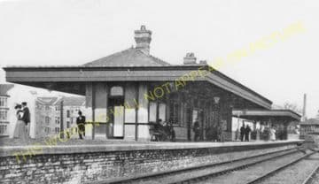 Kilbowie Railway Station Photo.  Clydebank - Dalmuir. Caledonian Railway. (2).