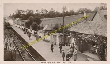 Killearn Railway Station Photo. Gartness - Dumgoyne. Strathblane Line. NBR. (2).