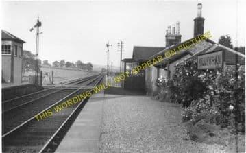 Killywhan Railway Station Photo. Lochanhead -Kirkgunzeon. Dalbeattie Line. (1).
