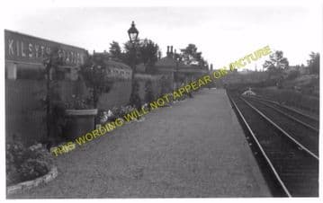 Kilsyth Railway Station Photo. Gavell and Kirkintilloch Line. (2)