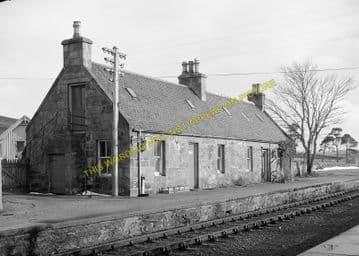 Kinbrace Railway Station Photo. Kildonan - Forsinard. Helmsdale Line. (1)