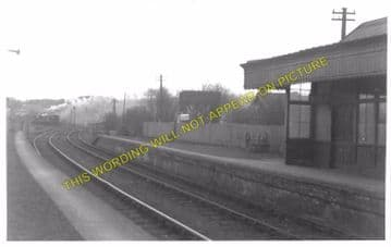 Kincardine Railway Station Photo. Kilbagie - Culross. Clackmannan Line. (3)