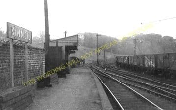 Kinneil Railway Station Photo. Bo'ness - Birkhill. Manuel Line. (1)