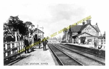 Kippen Railway Station Photo. Gargunnock - Buchlyvie. Stirling to Gartness. (1)..
