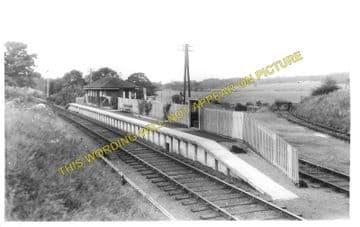 Kirkbank Railway Station Photo. Roxburgh - Nisbet. Jedburgh Line. NBR. (1)