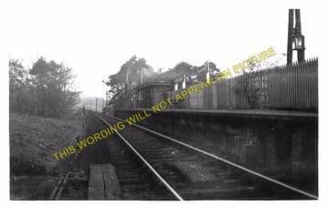 Kirkbank Railway Station Photo. Roxburgh - Nisbet. Jedburgh Line. NBR. (2)