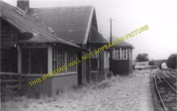 Kirkbuddo Railway Station Photo.  Monikie - Kingsmuir. Dundee to Forfar. (1)..