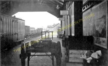 Kirkcudbright Railway Station Photo. Castle Douglas and Dumfries Line. GSWR. (2)
