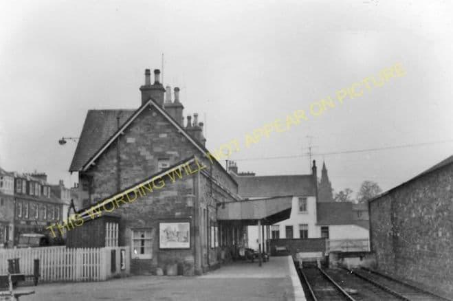 Kirkcudbright Railway Station Photo. Castle Douglas and Dumfries Line. GSWR. (4)