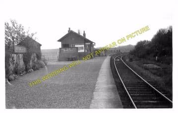 Kirkinner Railway Station Photo.  Wigtown - Whauphill. Whithorn Line. (1)..