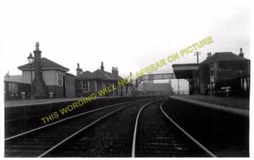 Kirkintilloch Railway Station Photo. Lenzie to Gavell and Lennoxtown Lines. (1)