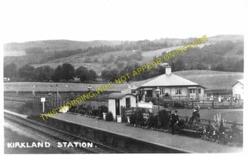 Kirkland Railway Station Photo. Moniaive - Crossford. Dunscore Line. (1)