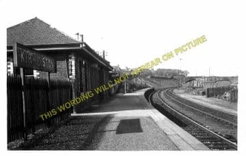 Kirkliston Railway Station Photo. Ratho - Dalmeny. North British Railway. (1)..