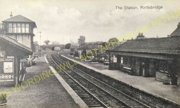 Kirtlebridge Railway Station Photo. Ecclefechan to Kirkpatrick and Annan. (3).