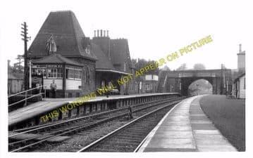Knighton Railway Station Photo. Bucknell - Knucklas. Builth Wells Line (4)