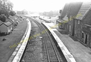 Knighton Railway Station Photo. Bucknell - Knucklas. Builth Wells Line (6)