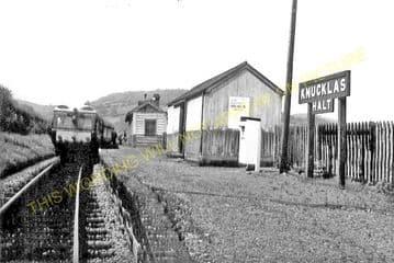 Knucklas Railway Station Photo. Knighton - Llangunllo. Knighton to Builth. (6)