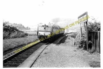 Knucklas Railway Station Photo. Knighton - Llangunllo. Knighton to Builth. (7)