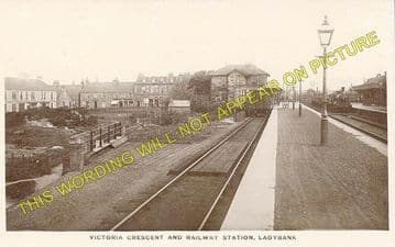 Ladybank Railway Station Photo. Kingskettle to Auchtermuchty & Cupar. (2)