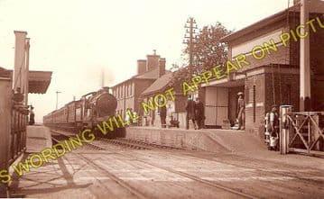 Lakenheath Railway Station Photo. Shippea Hill - Brandon. Ely to Thethford. (1)..