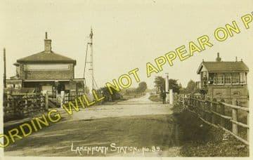 Lakenheath Railway Station Photo. Shippea Hill - Brandon. Ely to Thethford. (4)