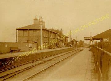 Lakenheath Railway Station Photo. Shippea Hill - Brandon. Ely to Thethford. (5)