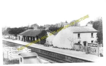 Lamphey Railway Station Photo. Pembroke - Manorbier. Penally and Tenby Line. (5)