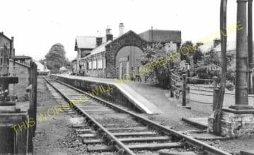 Langholm Railway Station Photo. Gilnockie, Canonbie and Riddings Line. (8)