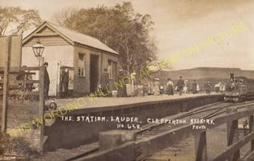 Lauder Railway Station Photo. Oxton and Fountailhall Line. North British Rly (2).