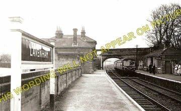 Lavenham Railway Station Photo. Long Melford - Cockfield. (1)..