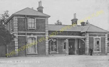 Lavenham Railway Station Photo. Long Melford - Cockfield. (10)