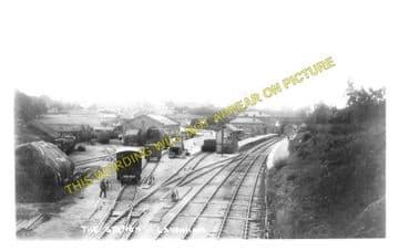 Lavenham Railway Station Photo. Long Melford - Cockfield. (4)