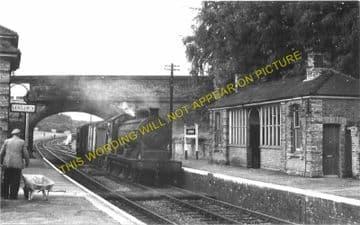 Lavenham Railway Station Photo. Long Melford - Cockfield. (5)