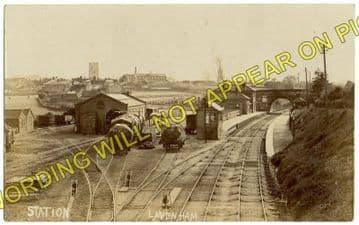 Lavenham Railway Station Photo. Long Melford - Cockfield. (7)