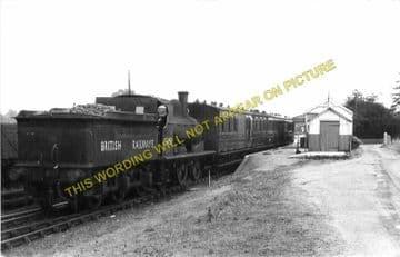 Laxfield Railway Station Photo. Stradbrooke and Haughley Line. Mid Suffolk. (2)