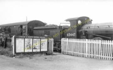 Laxfield Railway Station Photo. Stradbrooke and Haughley Line. Mid Suffolk. (8)