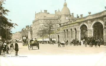 Leicester London Road Railway Station Photo. Midland Railway. (12)