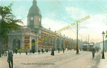 Leicester London Road Railway Station Photo. Midland Railway. (17)