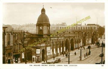 Leicester London Road Railway Station Photo. Midland Railway. (23)