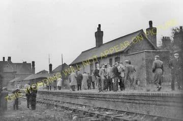 Leicester West Bridge Railway Station Photo. Glenfield Line. Midland Rly (14)