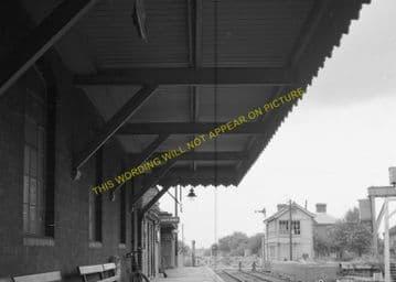 Leiston Railway Station Photo. Saxmundham - Aldeburgh. Great Eastern Railway. (10)