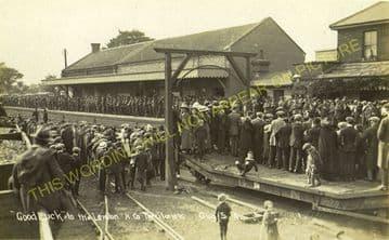 Leiston Railway Station Photo. Saxmundham - Aldeburgh. Great Eastern Railway. (11)